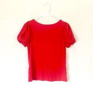 LAUREN Ralph Lauren puff sleeve shirt top blouse